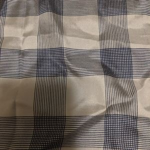 Vintage silk Echo scarf blue plaid